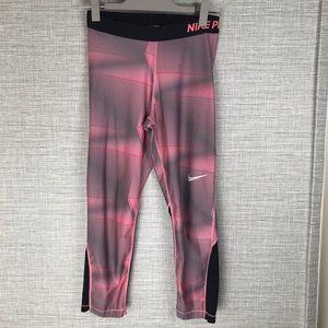 Nike Pants - Nike Pro Pair of Leggings Black/Printed Pink M